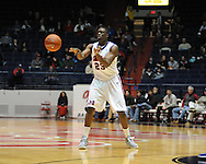 """Ole Miss' Reginald Buckner (23) vs. SMU at the C.M. """"Tad"""" Smith Coliseum in Oxford, Miss. on Tuesday, January 3, 2012. Ole Miss won 50-48."""