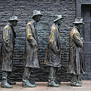 Sculpture representation of the Great Depression at the Franklin D. Roosevelt Memorial in Washington DC on Haines Point on the banks of the Tidal Basin