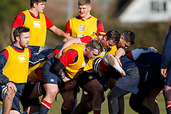 England U20 forwards scrum down during a session at Bristol Rugby's training facility ahead of the U20 Six Nations match versus Wales - Mandatory byline: Rogan Thomson/JMP - 08/03/2016 - RUGBY UNION - Clifton Rugby Club - Bristol, England - England Under 20s Training at Bristol Rugby.