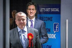© Licensed to London News Pictures . 31/01/2014 . Manchester , UK . Leader of the Labour Party , ED MILIBAND and Mike Kane , arrive ahead of delivering a speech and Q&A at Wythenshawe Forum this afternoon (31st January 2014) as the party continues to campaign for Mike Kane in the upcoming Wythenshawe and Sale East by-election , following the death of Paul Goggins . Photo credit : Joel Goodman/LNP