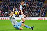 Burnley defender Charlie Taylor (3) is fouled bt West Ham United midfielder Robert Snodgrass (11) during the Premier League match between Burnley and West Ham United at Turf Moor, Burnley, England on 30 December 2018.