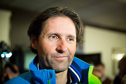 Andrea Massi, coach and boyfriend of Tina Maze of Slovenia, 2-times gold winner during reception at arrival from Sochi Winter Olympic Games 2014 on February 23, 2014 in Airport Zagreb, Croatia. Photo by Vid Ponikvar / Sportida