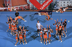 Northern Lights Diamonds, Finland during All Female senior at second day of European Cheerleading Championship 2008, on July 6, 2008, in Arena Tivoli, Ljubljana, Slovenia. (Photo by Vid Ponikvar / Sportal Images).