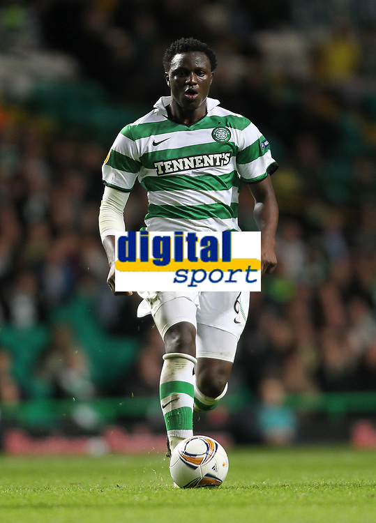 Football - Europa League - Celtic vs. Rennes<br /> <br /> Celtic's Victor Wanyama in action during the Celtic vs. Rennes Europa League group match at Celtic Park on November 3rd 2011.<br />  <br /> <br /> Ian MacNicol/Colorsport