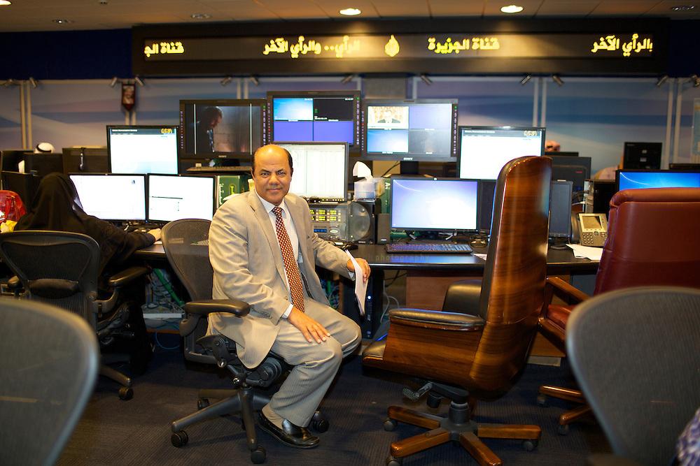 At the Al Jazeera HQ in Doha, Qater.<br /> <br /> Minimum usage fee 250 USD or 200 EURO