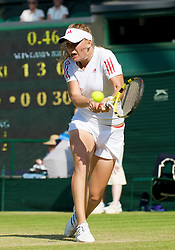LONDON, ENGLAND - Thursday, June 25, 2009: Caroline Wozniacki (DEN) during the Ladies' Singles 2nd Round match on day four of the Wimbledon Lawn Tennis Championships at the All England Lawn Tennis and Croquet Club. (Pic by David Rawcliffe/Propaganda)