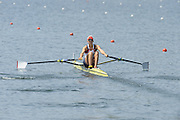Lucerne. Switzerland.  GBR1 W1X, Victoria THORNLEY, at the start of the Women's Single Sculls Heat at the FISA WC III. 12:36:11  Friday  12/07/2013  [Mandatory Credit, Peter Spurrier/ Intersport Images] Lake Rotsee,