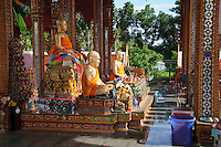 Watt Prok a Buddhist Temple at Ta Luang Thailand near Damnoen Saduak