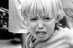 Toddler having a tantrum, UK 1991