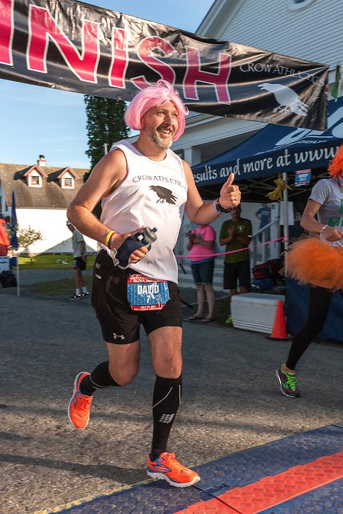 Great Cranberry Island Ultra 50K road race: David Goodrich crosses finish line
