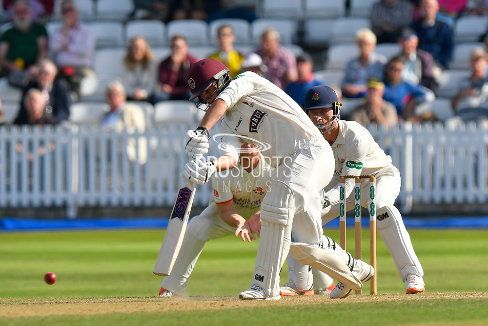 Lewis Gregory of Somerset batting during the Specsavers County Champ Div 1 match between Somerset County Cricket Club and Lancashire County Cricket Club at the Cooper Associates County Ground, Taunton, United Kingdom on 5 September 2018.