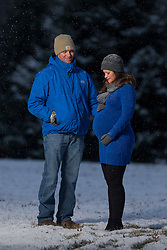 Jennie Geerts pregnancy photos, Thursday, Jan. 05, 2017  at Anchorage Park in Louisville.