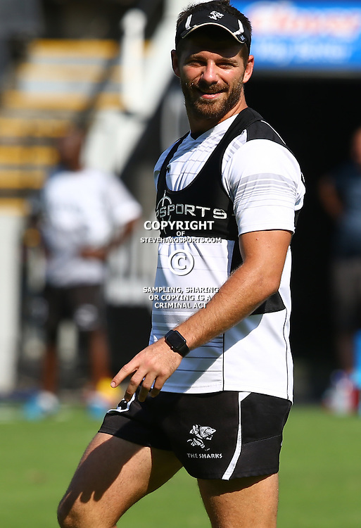 DURBAN, SOUTH AFRICA, 25,MARCH, 2016 - Willie le Roux during The Cell C Sharks Captain session at Growthpoint Kings Park in Durban, South Africa. (Photo by Steve Haag)<br /> <br /> images for social media must have consent from Steve Haag