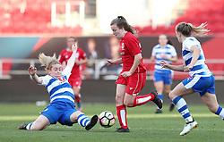 Lauren Hemp of Bristol City Women is tackled by Rachel Furness of Reading Women - Mandatory by-line: Gary Day/JMP - 22/04/2017 - FOOTBALL - Ashton Gate - Bristol, England - Bristol City Women v Reading Women - FA Women's Super League 1 Spring Series
