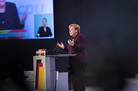 DEU, Deutschland, Germany, Leipzig, 22.11.2019: Bundeskanzlerin Dr. Angela Merkel (CDU) beim Bundesparteitag der CDU in der Messe Leipzig.
