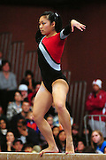 January 17, 2010; Stanford, CA, USA; Stanford Cardinal gymnast Danielle Ikoma performs on the beam during the meet against the Arizona Wildcats at Burnham Pavilion. The Cardinal defeated the Wildcats 196.025-194.675. Mandatory Credit: Kyle Terada-Terada Photo
