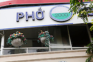 Pho 2000 restaurant in downtown, Saigon--Ho Chi Minh City, Bill Clinton went there for lunch, a bowl off Pho of course, when he was President of the US<br /> <br />  photo by Dennis Brack