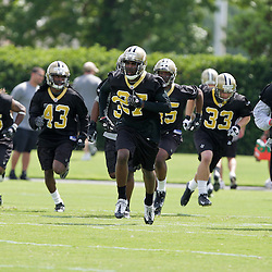 08 May 2009: Saints first round draft selection Malcom Jenkins (27) a cornerback/safety from Ohio State participates in drills with teammates during the New Orleans Saints  rookie minicamp held at the team's practice facility in Metairie, Louisiana.