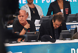 """Celebrities at the """"Hand to hand"""" telethon in Times square, New York City. 12 Sep 2017 Pictured: Bruce Wilis, Al Pacino. Photo credit: MEGA TheMegaAgency.com +1 888 505 6342"""