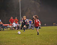 The Titans' Grey Hooper scores vs. The Chiefs in Oxford Park Commission soccer action at FNC Park in Oxford, Miss. on Monday, October 22, 2012.