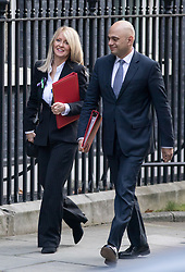 © Licensed to London News Pictures. 06/02/2018. London, UK. Work and Pensions Secretary Esther McVey and Housing, Communities and Local Government Secretary Sajid Javid arriving in Downing Street to attend a Cabinet meeting this morning. Photo credit : Tom Nicholson/LNP