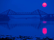 Abstract sunset, connel bridge
