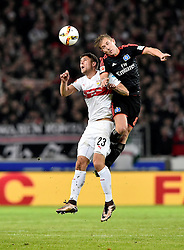 30.12.2015, Mercedes Benz Arena, Stuttgart, GER, 1. FBL, VfB Stuttgart vs Hamburger SV, 19. Runde, im Bild Kopfballduell, Zweikampf, Aktion Artem Kravets VfB Stuttgart (links) gegen Lewis Holtby HSV HSV Hamburg Hamburger SV // during the German Bundesliga 19th round match between VfB Stuttgart and Hamburger SV at the Mercedes Benz Arena in Stuttgart, Germany on 2015/12/30. EXPA Pictures © 2016, PhotoCredit: EXPA/ Eibner-Pressefoto/ Weber<br /> <br /> *****ATTENTION - OUT of GER*****