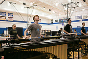 Shadow Indoor Percussion practices at a high school in Dayton, Ohio on April 19, 2017.<br /> <br /> Beth Skogen Photography - www.bethskogen.com