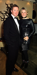 MR & MRS RORY BREMNER, he is the comedian and she an artist, at a dinner in London on 17th February 2000.OBE 11
