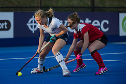 East Grinstead v Holcombe - Semi-Final - Investec Women's Hockey League Finals, Lee Valley Hockey & Tennis Centre, London, UK on 22 April 2017. Photo: Simon Parker