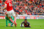 Leeds United forward Edward Nketiah (14), on loan from Arsenal,  during the EFL Sky Bet Championship match between Barnsley and Leeds United at Oakwell, Barnsley, England on 15 September 2019.