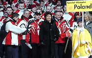 """n/z.: Pierwsza dama - Jolanta Kwasniewska - Olimpiady Specjalne Igrzyska Zimowe podczas ceremonii otwarcia w hali """" T Wave """" w Nagano. Japonia , Nagano , 26-02-2005 , fot.: Adam Nurkiewicz / mediasport..First Lady - Jolanta Kwasniewska - Special Olympics Winter Games during opening ceremony at """" T Wave Hall """" in Nagano. February 26, 2005 , Japan , Nagano ( Photo by Adam Nurkiewicz / mediasport )"""
