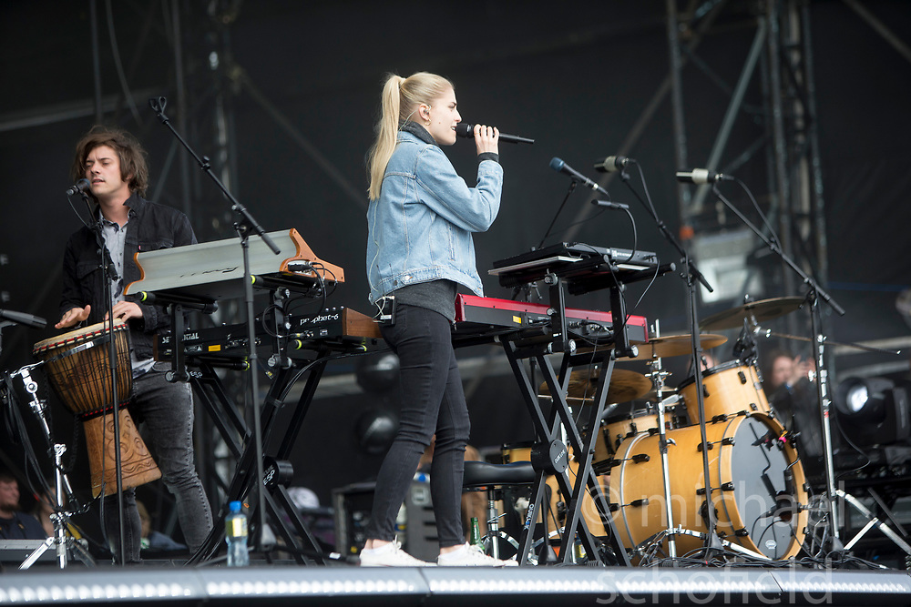 Hannah Reid of London Grammar on the main stage, Friday at TRNSMT music festival, Glasgow Green.