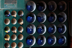 OAKLAND, CA - JULY 23:  General view of the Toronto Blue Jays dugout before the game against the Oakland Athletics at O.co Coliseum on July 23, 2015 in Oakland, California. The Toronto Blue Jays defeated the Oakland Athletics 5-2. (Photo by Jason O. Watson/Getty Images) *** Local Caption ***