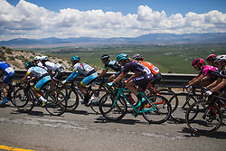 Tayler Wiles (USA) of Trek-Drops Cycling Team rides mid-pack on Stage 2 of the Amgen Tour of California - a 108 km road race, starting and finishing in South Lake Tahoe on May 18, 2018, in California, United States. (Photo by Balint Hamvas/Velofocus.com)