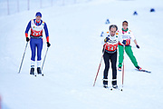 Schladming, Austria - 2017 March 20: Francisco Monteiro from SO France (147) competes in Cross Country Race while Special Olympics World Winter Games Austria 2017 in Ramsau am Dachstein on March 20, 2017 in Schladming, Austria.<br /> <br /> Mandatory credit:<br /> Photo by &copy; Adam Nurkiewicz / Mediasport<br /> <br /> Adam Nurkiewicz declares that he has no rights to the image of people at the photographs of his authorship.<br /> <br /> Picture also available in RAW (NEF) or TIFF format on special request.<br /> <br /> Any editorial, commercial or promotional use requires written permission from the author of image.<br /> <br /> Image can be used in the press when the method of use and the signature does not hurt people on the picture.