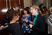 STEPHEN FRY; KATHY LETTE;  ZOE WANAMAKER; STEVEN WEBB, Veuve Clicquot Tribute award dinner for Ruby Wax for her outstanding contribution to the greater understanding of mental illness in the UK. Berkeley Hotel, London. 25 November 2011.