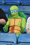 A Southend Unitred fan before the Sky Bet League 1 match between Bury and Southend United at the JD Stadium, Bury, England on 8 May 2016. Photo by Mark Pollitt.