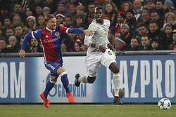 November 22, 2017 - Basel, BS, Schweiz - Basel, 22.11.2017, Fussball Champions League, FC Basel - Manchester United. Michael Lang (Basel) gegen Paul Pogba (Manchester) (Credit Image: © Giuseppe Esposito/EQ Images via ZUMA Press)