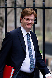 © Licensed to London News Pictures. 07/01/2013. London, UK. The Treasury Secretary Danny Alexander is seen on Downing Street in London today (07/01/13) before the first cabinet meeting of 2013. Photo credit: Matt Cetti-Roberts/LNP