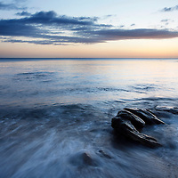 Rocks and Tide at Dawn Castle Sands St Andrews Fife Scotland