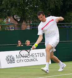 MANCHESTER, ENGLAND: Richard Krajicek (NED) on Day 4 of the Manchester Masters Tennis Tournament at the Northern Tennis Club. (Pic by David Tickle/Propaganda)