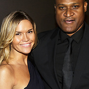 NLD/Amsterdam/20141115 - Life After Football fair 2014, Winston Bogarde en partner Priscilla