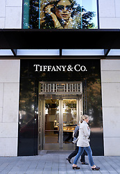 Tiffany and Co upmarket fashion boutique shop on Konigsallee in Dusseldorf in Germany