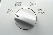 Close up of washing machine knob