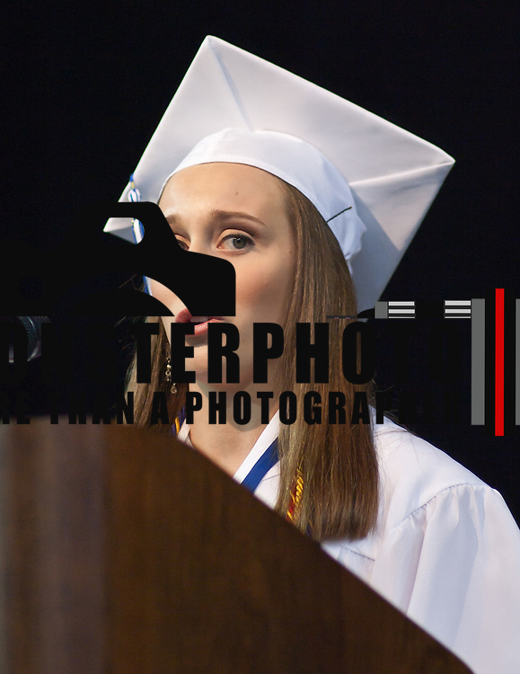 06/05/11 Newark DE: Brandywine valedictorian Kelsey Traunero addresses her classmates during Brandywine graduation Sunday, June 5, 2011 at The Bob Carpenter Center in Newark Delaware...Special to The News Journal/SAQUAN STIMPSON