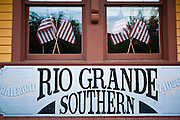 The historic Rio Grande Southern Galloping Goose, Dolores, Colorado