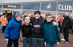Ospreys fans before the match<br /> <br /> Photographer Simon King/Replay Images<br /> <br /> Guinness PRO14 Round 19 - Ospreys v Connacht - Friday 6th April 2018 - Liberty Stadium - Swansea<br /> <br /> World Copyright © Replay Images . All rights reserved. info@replayimages.co.uk - http://replayimages.co.uk