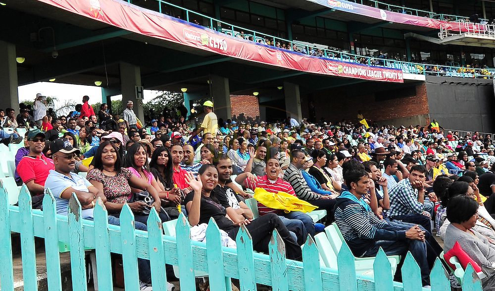Crowds during match 17 of the Karbonn Smart CLT20 South Africa between The Chennai Superkings and Yorkshire held at Kingsmead Park in Durban, South Africa on the 22nd October 2012..Photo by Gerhard Duraan/SPORTZPICS/CLT20