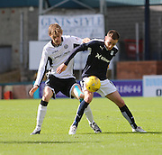 Dundee's Nick Ross and St Johnstone&rsquo;s Murray Davidson - Dundee v St Johnstone at Dens Park <br /> - Ladbrokes Premiership<br /> <br />  - &copy; David Young - www.davidyoungphoto.co.uk - email: davidyoungphoto@gmail.com
